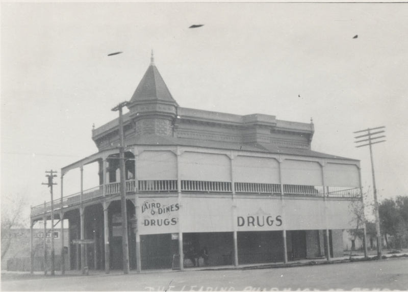 Exterior of the Laird and Dines Building, ca. 1900