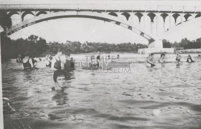 Salt River Swimmers Under Ash Bridge