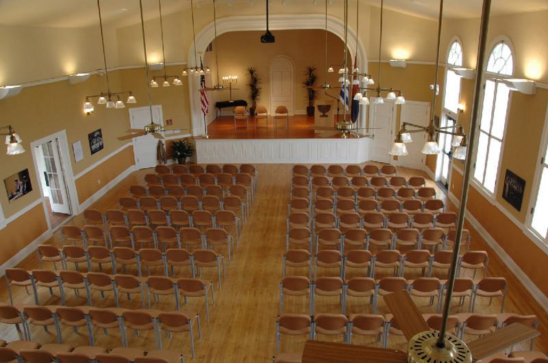 Interior View of the Sanctuary at the Arizona Jewish Historical Society