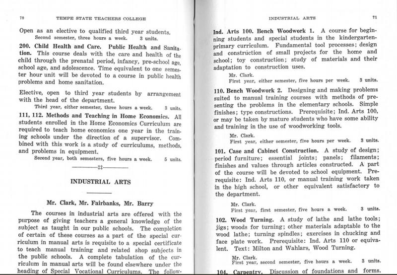 Industrial Arts Curriculum, 1927 - 1928