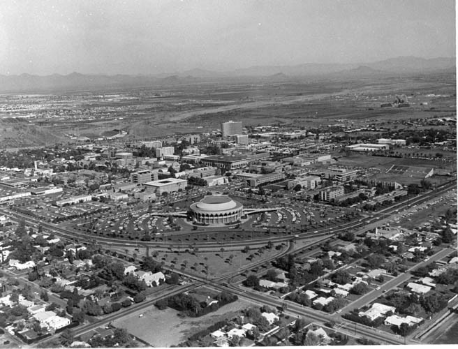 Aerial view of Gammage