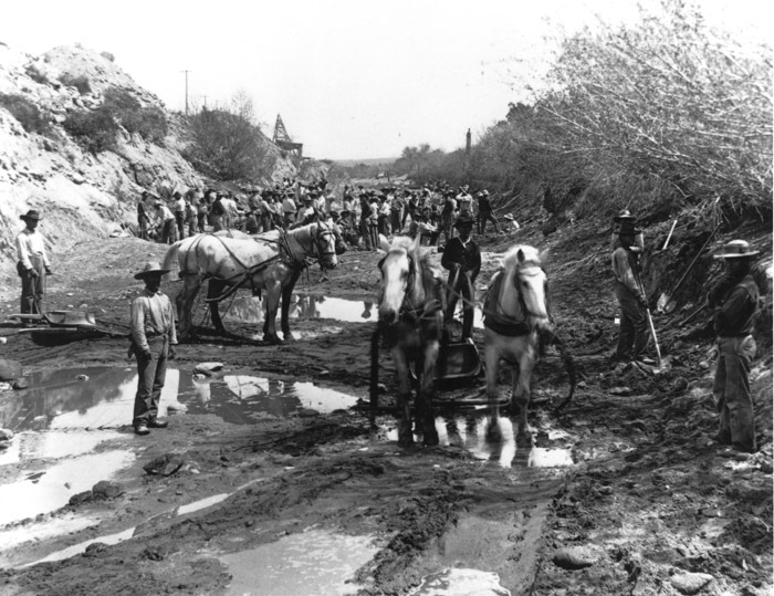 Digging the Arizona Canal, 1880s.