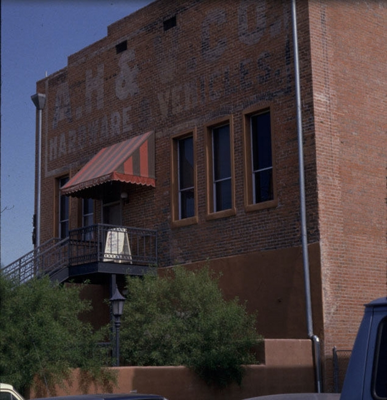Back of Tempe Hardware Building, ca. 1984