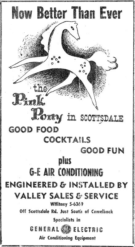 Pink Pony Ad, ca. 1954