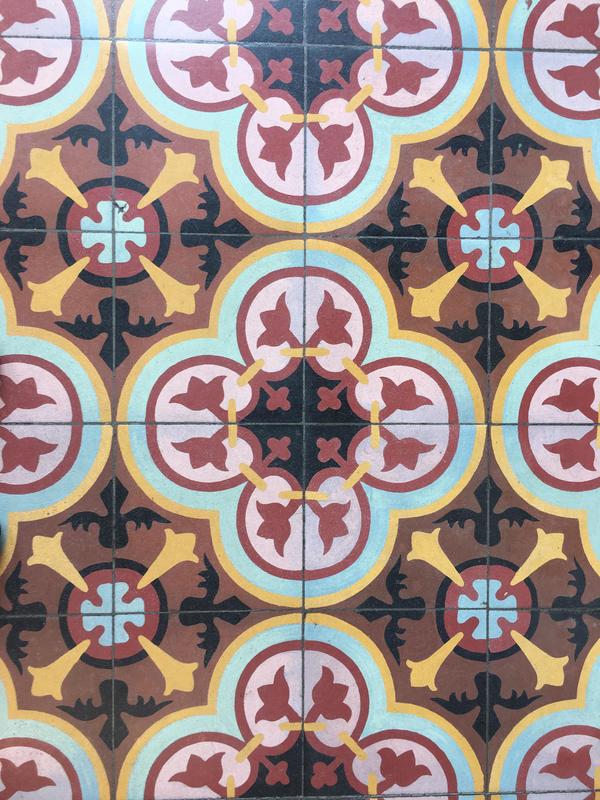 Westward Ho lobby floor tile detail