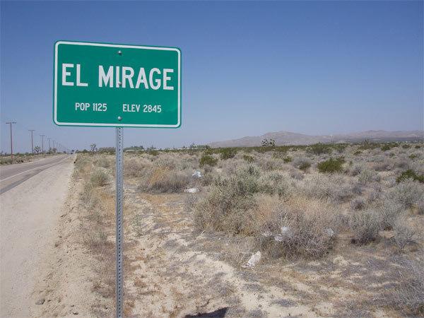 Entering El  Mirage