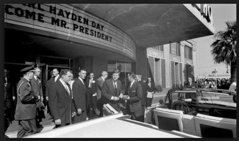 President John F. Kennedy arriving at the Westward Ho