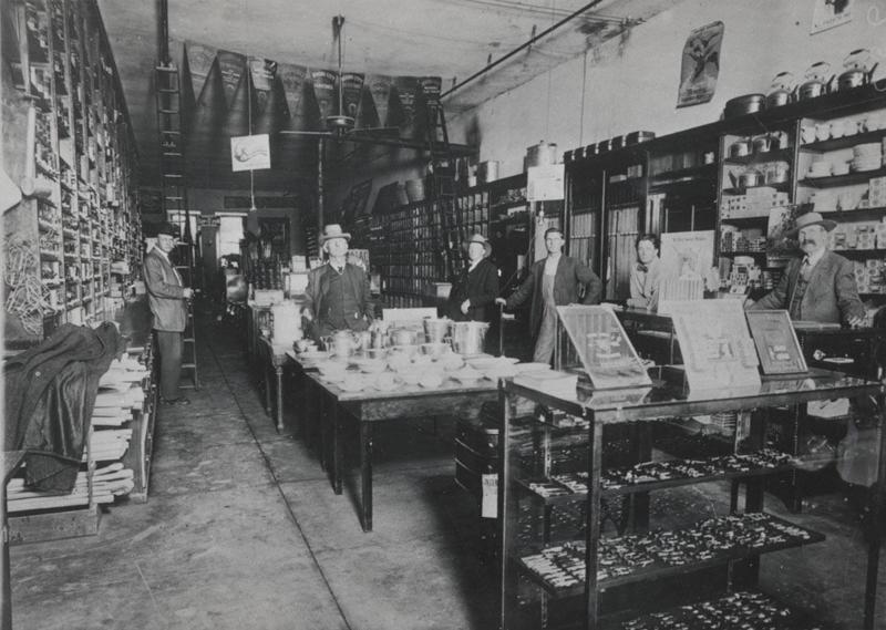 Tempe Hardware Interior, ca. 1900