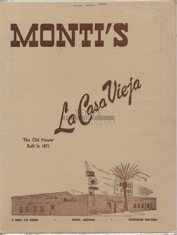 Monti's Menu