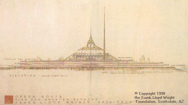 Sketch of Baghdad Opera House