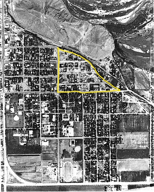 Overhead Aerial View of Tempe in 1940