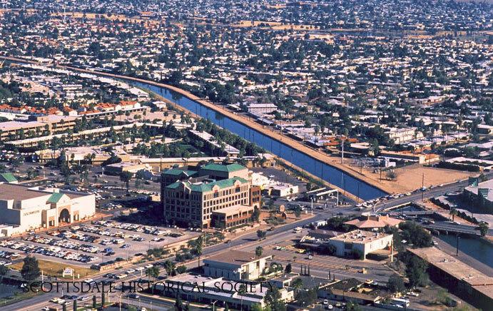 Arizona Canal at Scottsdale and Camelback Roads, ca. 1990