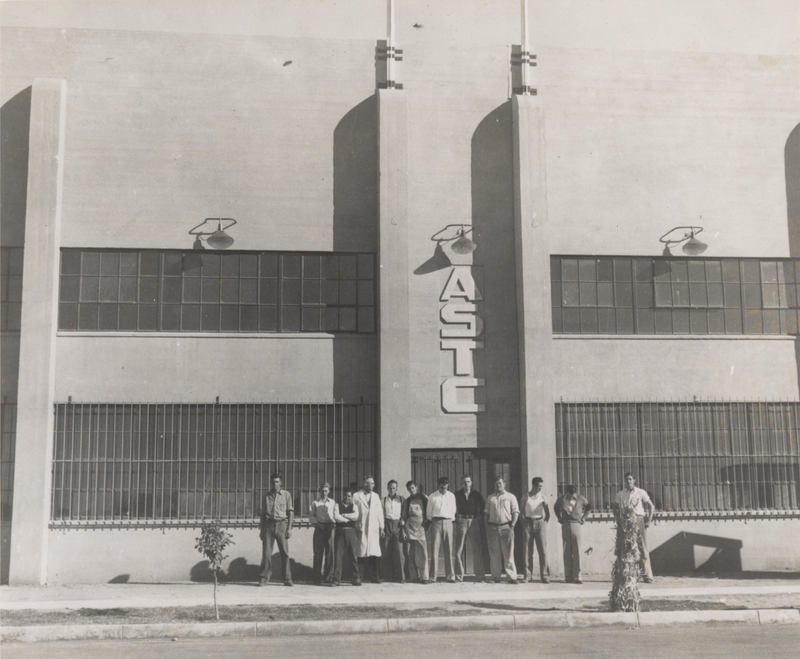 Workers Gathered Around After Construction is Completed