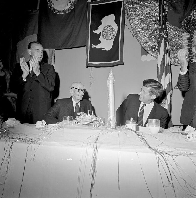 President Kennedy and Senator Carl Hayden at the Westward Ho Hotel