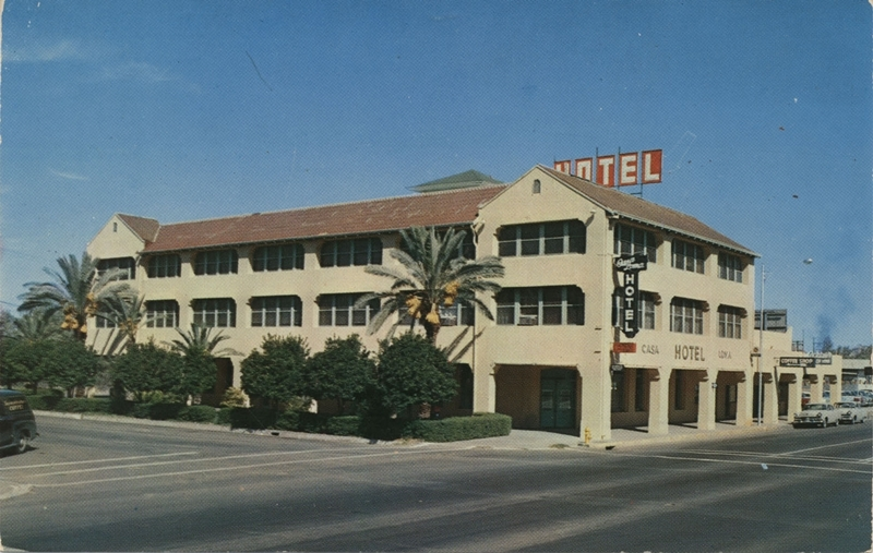 Postcard of the Casa Loma Hotel, ca. 1962